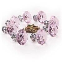 8 x Pink diamond bling decoration door furniture drawer handle knob 30x27mm|Door Handles|   -