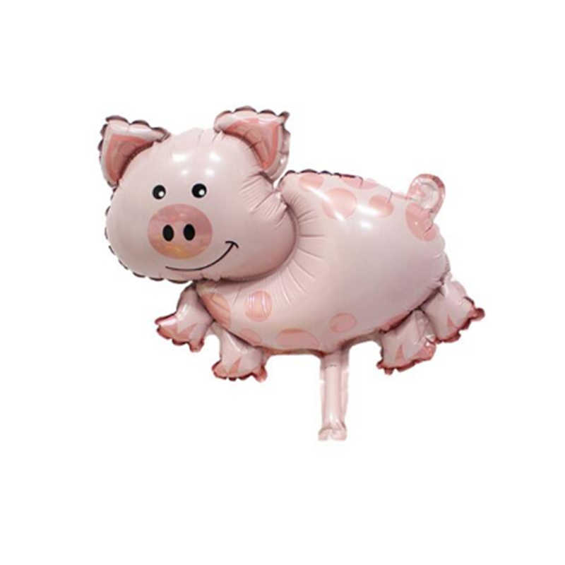 動物バルーンピンク豚ヘッド子シャワー好意グロボスファーム誕生日パーティーの装飾子供と大人
