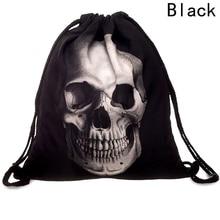 Унисекс, дорожный мягкий рюкзак, уникальный стиль, мужская сумка Mochila на шнурке, школьные рюкзаки для девочек, рюкзак со скелетом, маленькая 3D печать