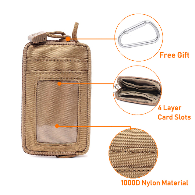 Tactical Wallet Card Bag Muti-functional Key Money Pouch Military Wallet Waist Pack for Outdoor Sports Hunting Accessory Bag 2