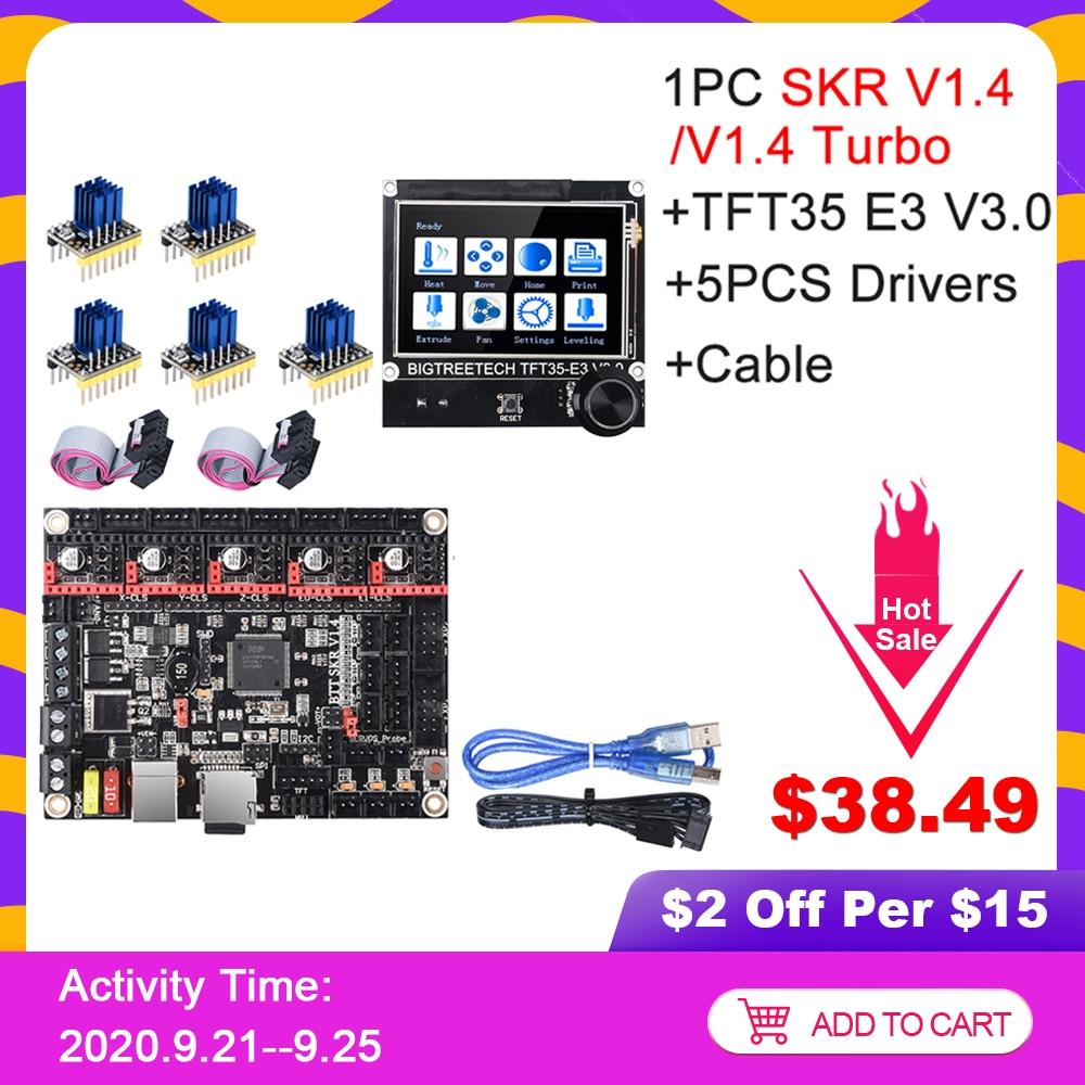BIGTREETECH SKR V1 4 SKR V1 4 Turbo Control Board TFT35 E3 V3 0 Touch Screen TMC2209 UART TMC2208 Upgrade SKR V1 3 For Ender 3