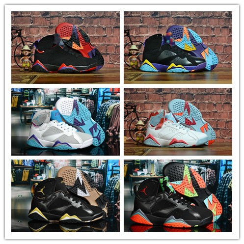 7 7s But Net Bordeaux Verde Gs Hare Fuchsia Glow Men Basketball Shoes Mens Sports Shoes Womens Sneakers 36-47