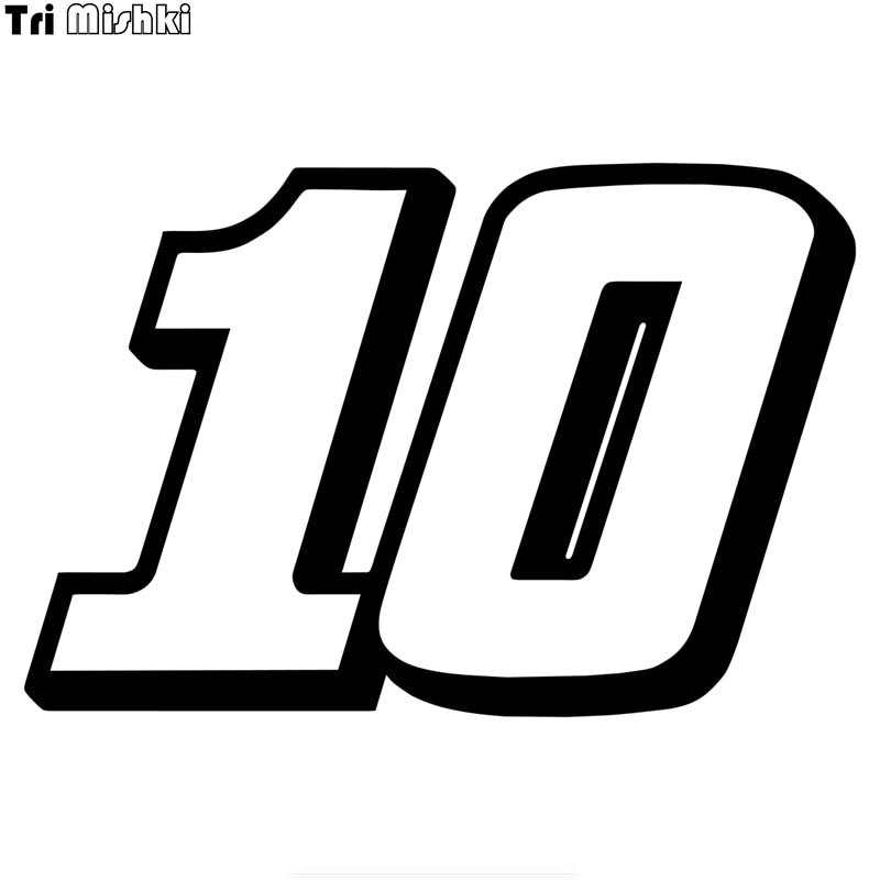 Tri Mishki HZX1186 # racing номерной знак 10 шлем автомобильная наклейка «Доберман» забавные виниловые наклейки аксессуары для мотоциклов наклейки