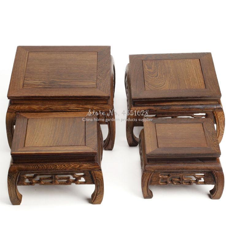 For Sell Natural Wood Tea Table Redwood Carving Decoration Base Vase Buddha Kistler Display Rack Small Coffee Table Lightweight