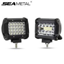 "4 ""12V LEDรถทำงานไฟLED AutoวันSuper Bright Light Barกันน้ำSpot Beamสำหรับoffroadรถบรรทุก4X4 SUV ATV"