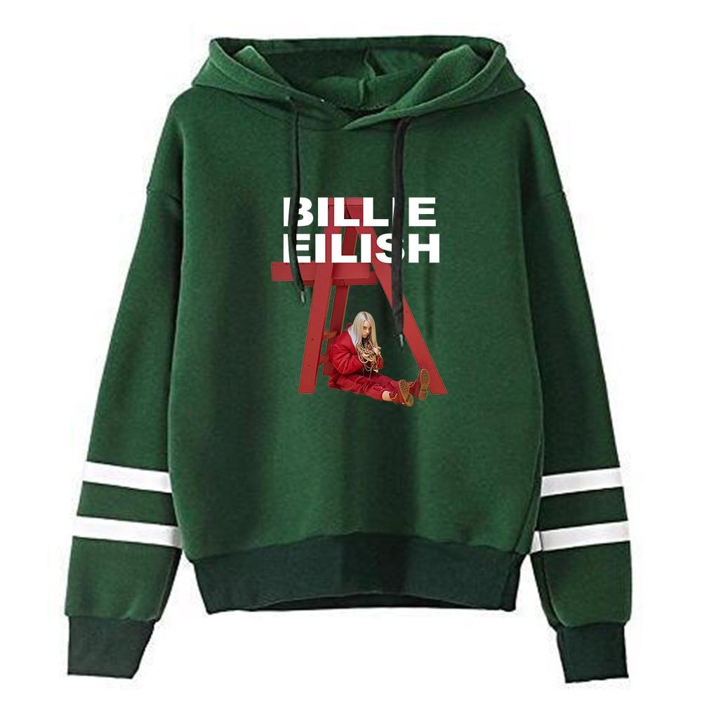 BILLIE print Men Hoodies Sweatshirts Headwear Hoodie Hip Hop Stranger Things Streetwear Clothing Us