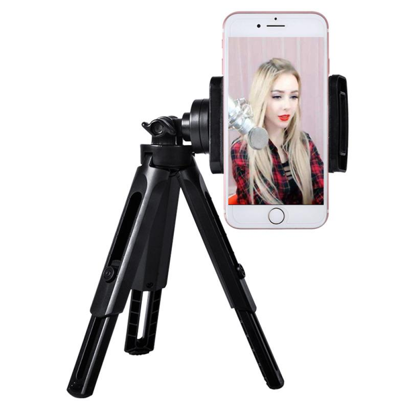 Two Section Tripod Holder For Phone Desktop Photography Box Tripod Small Digital SLR Camera Bracket