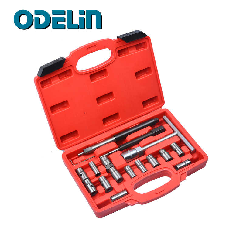 17Pcs Diesel Injector Seat Cutter Set Voor Bmw Ford Peugeot Citroen Renault Auto