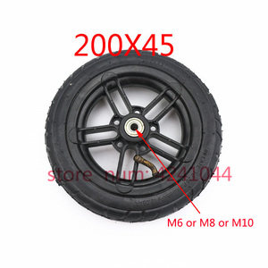 """Image 2 - 8 Inch Inflated Wheel For E twow S2 Scooter M6 Pneumatic Wheel With Inner Tube 8"""" Scooter Wheelchair Air Wheel Can Loading 100Kg"""