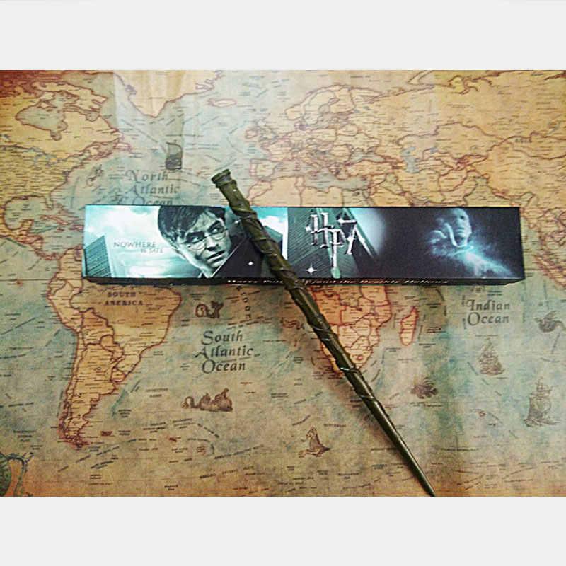 28 видов поттерской волшебной палочки с подарочной коробкой, металлическая волшебная палочка для детей, волшебная палочка для косплея с волдемортом