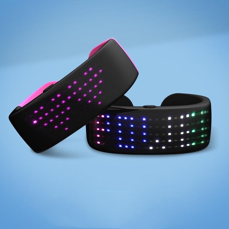 Latest Luminous Led Bracelet Led Programmable Wristbands Glowing Led Bracelet Flashlight Party Night Running Event Bar Festival