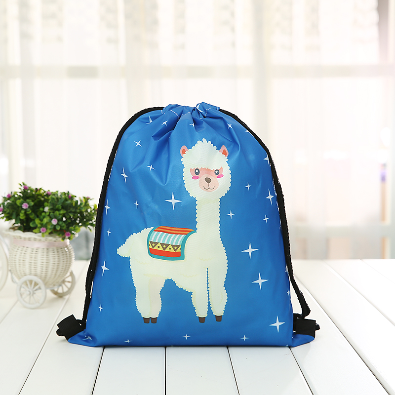 New Drawstring Backpack Fashion Women Printing  Knapsack Men Casual Bags Unisex Women's Cartoon Animal Shoulder New Blue Woman