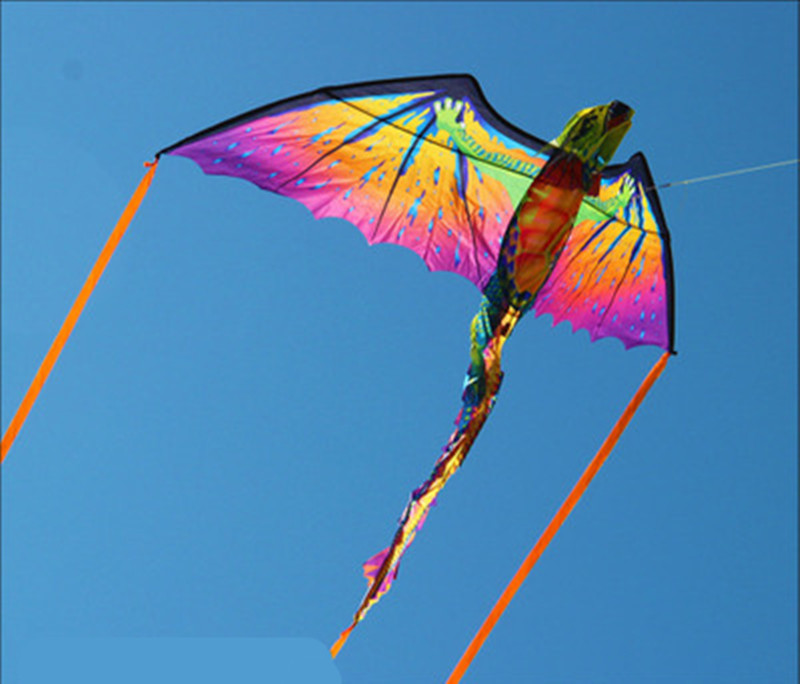 3D Pterosaur Chameleon Kite Animal Dinosaur Kite Long Tail Single Line Kite Outdoor Sports Surf Flying Tools Children Gifts