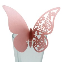 wedding table card name 50pcs Butterfly half hollow cup love seat Wedding Dinner Table Decoration