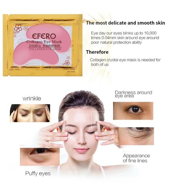 1Pair Collagen Crystal Eye Mask Serum Eye Patches Under Eyes Pad Dark Circle Puffiness Remove Anti-aging Collagen Eye Pads TSLM1 4