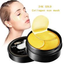 60pcs Gold/Seaweed Collagen Eye Mask Face Anti Wrinkle Gel Sleep Gold Mask Eye P