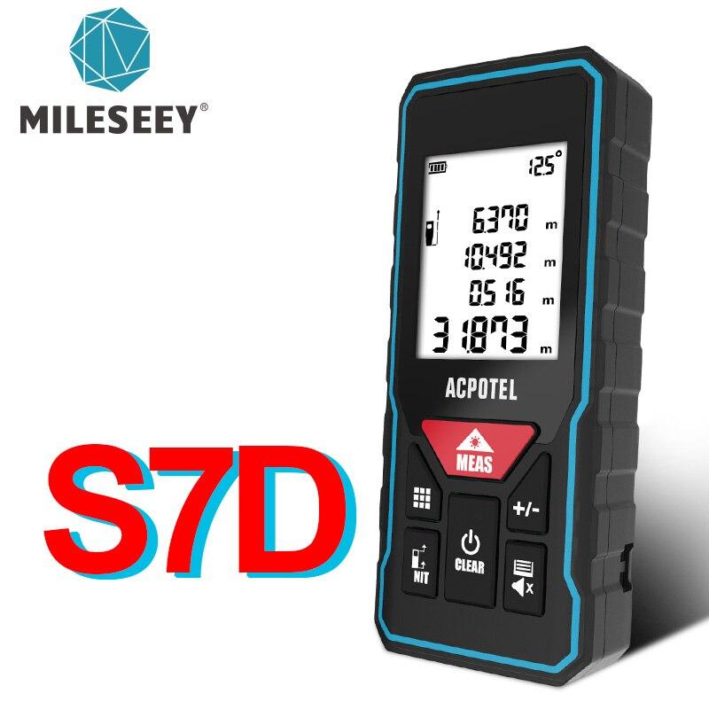 Лазерный дальномер Mileseey, цифровой измеритель расстояния, лазерная рулетка, X5