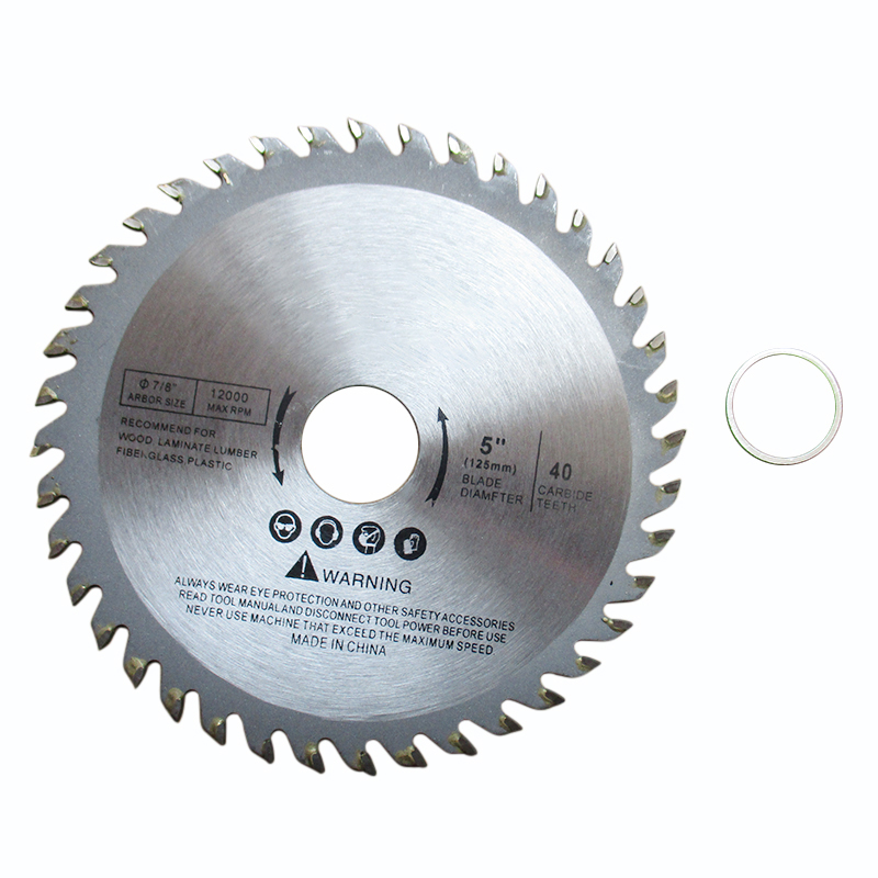 1pc 5Inch 125mm 40T Wood Carving Disc Circular Saw Blade Disc Cutter Metal Plastic For Angle Grinder For Cutting Wood Discs