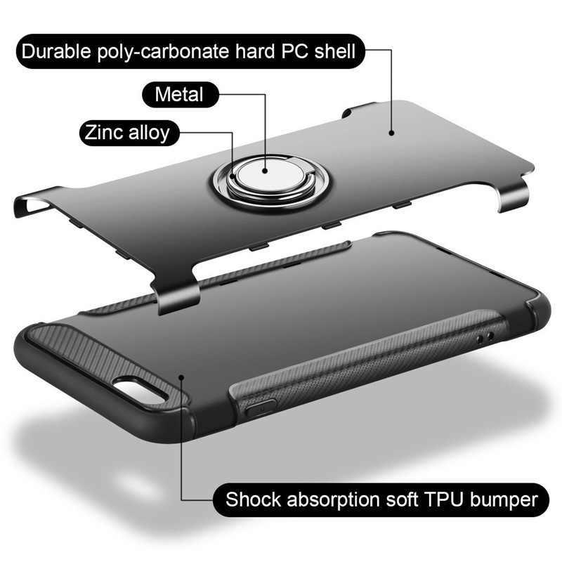 Antiurto Cassa Del Telefono per Il Iphone 11 Pro Max 7 6 6 S 8 Più di X 5 5 S Se Xs max Xr Bordo in Silicone Duro Della Copertura Posteriore Anello Magnetico Del Basamento