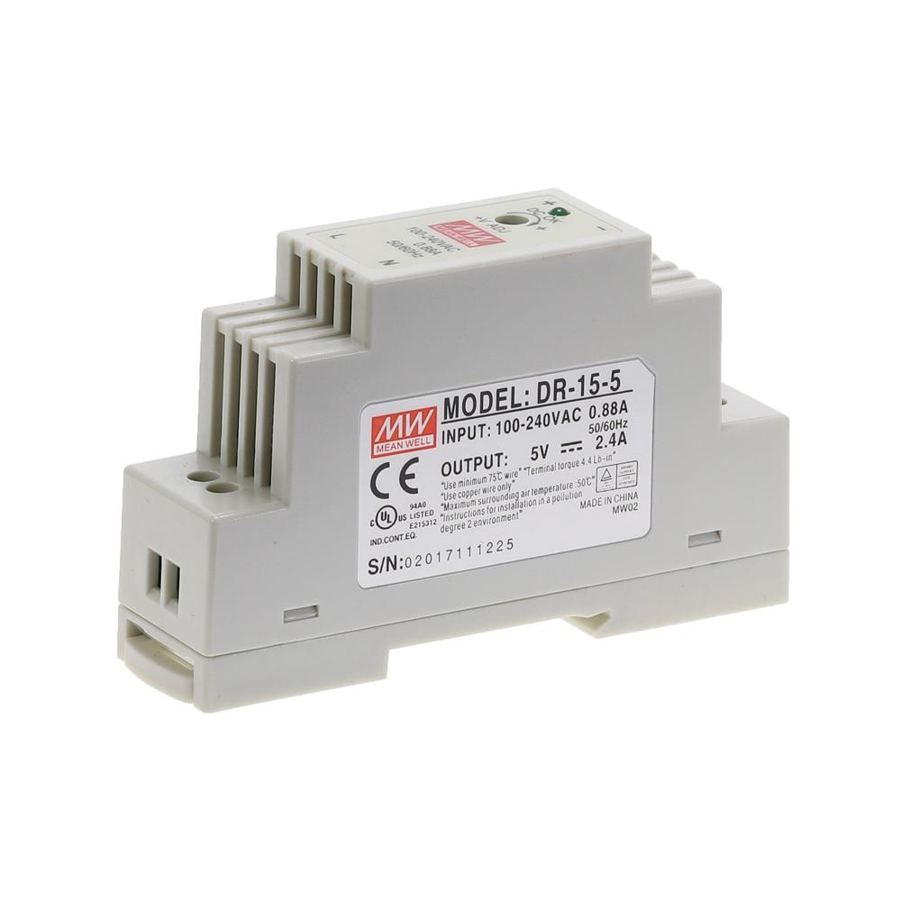 DR-15 DR-45 DR-60 15W 45W 60W Single Output 5V 12V 15V 24V Industrial Din Rail Switching Power Supply DR-15/45/60-5/12/15/24-3