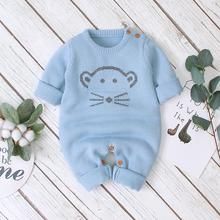 db6020 dave bella autumn new born baby girls boys knitted sweater romper infant toddler children stars printed clothes Baby Romper Long Sleeve New Born Bebes Unisex Jumpsuits Clothes Autumn Cartoon Knitted Toddler Kids Boys Overalls Girls Outfits