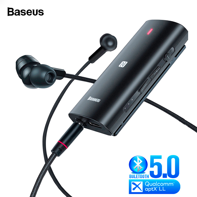 Baseus Bongiovi DPS Bluetooth 5.0 Receiver 3.5mm Jack Bluetooth Audio Aux Aptx LL HD Wireless Adapter Transmitter For Headphone