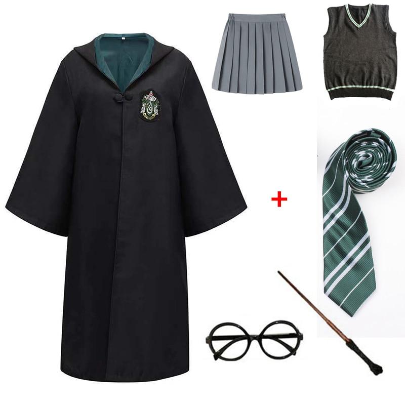 Cloak Cosplay Robe Costumes Shirt School-Uniform Hermione Potter Halloween Magic Adult