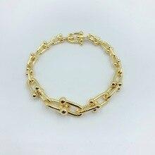 The classical charm Gradient U shape Knot buckle Bracelet S925 Women Jewelry 1:1 Luxury brands Logo Valentine's Day gift valentine s day faux gem peacock shape charm bracelet