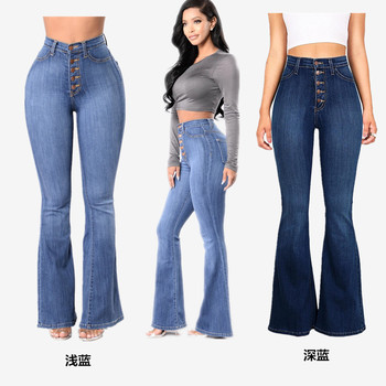 1X slim fit high waisted breeches jeans flared pants women jeans good quality jeans wholesale wholesale jeans custom недорого