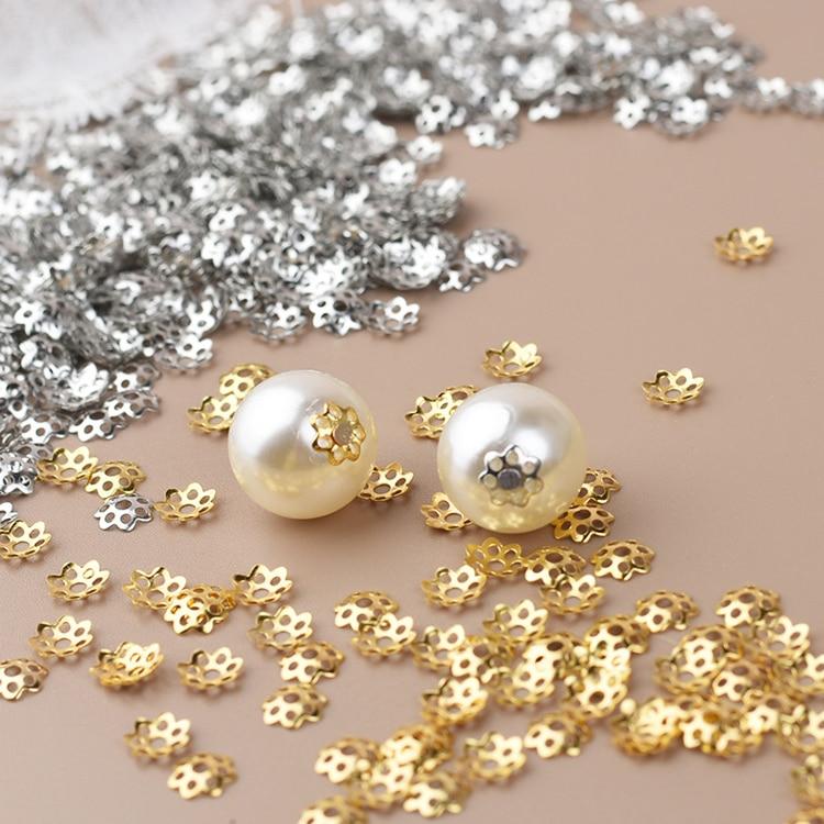 1000Pcs Silver Gold Black Gold Metal Filigree Flower Bead Caps Cover DIY Jewelry