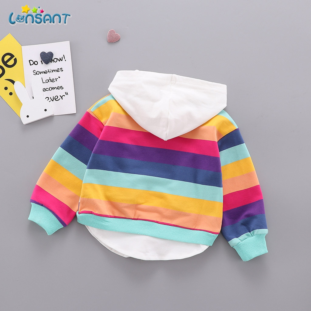 LONSANT New Spring Autumn Baby Boy Girl Clothes Cotton Hooded Sweatshirt Children Kids Casual Infant Leisure Clothing N30 2