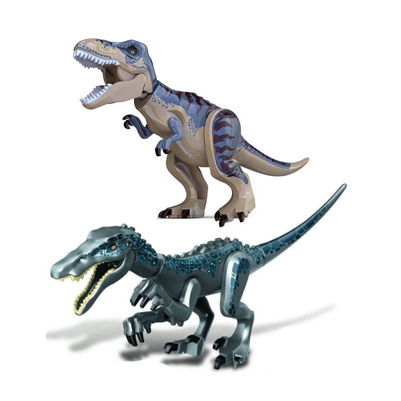 Jurassic World 2 Heavy Claw Dragon Tyrannosaurus Rex Building Blocks Jurassic Dinosaur Figures Bricks Toys Collection Toy