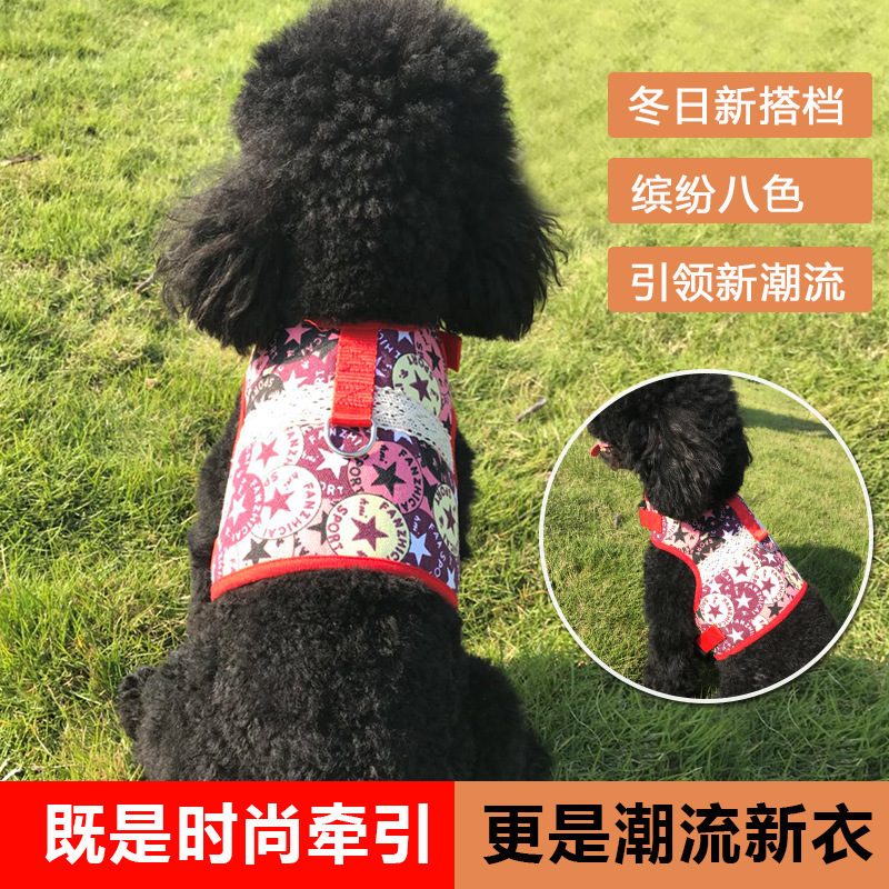 New Products Dog Chain Small Medium-sized Dog Hand Holding Rope Teddy Clothes Pet Traction Rope Ethnic-Style