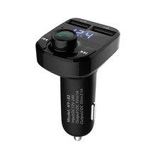 Car MP3 Player Bluetooth FM Transmitter Kit Car Hands-free Audio MP3 Modulator Dual USB Charge .