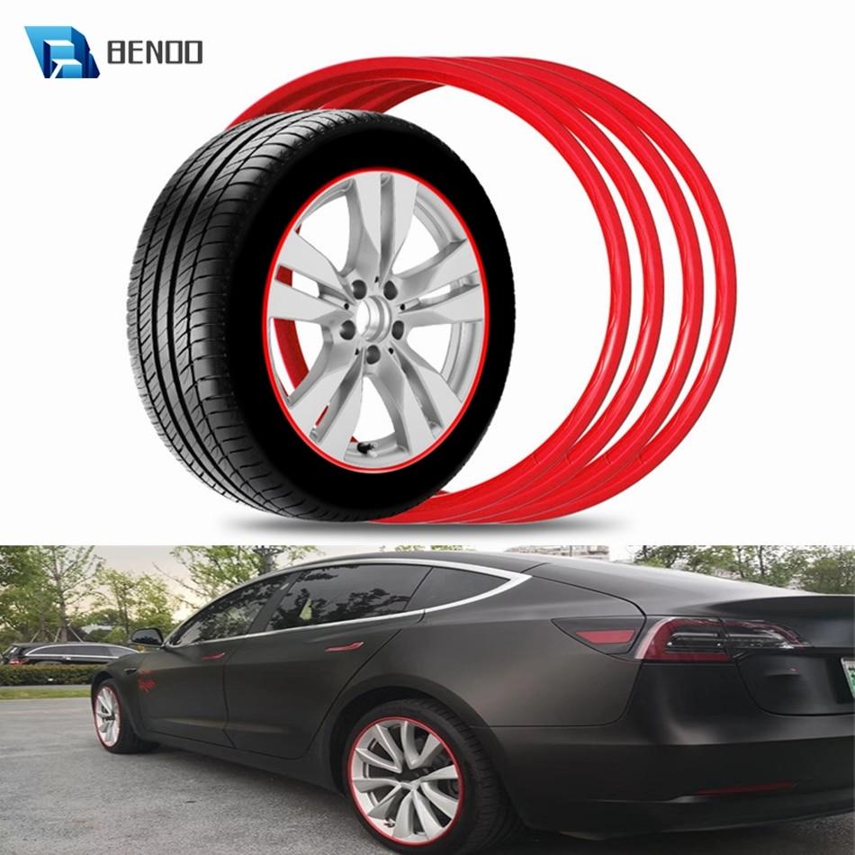 17/18/19/20 Inch 4 Packs Heavy Duty Car Wheel Guard Rim Protecting Trim Ring For Tesla Model 3/Y For BMW/Benz For Audi Hyundai