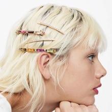 купить 1SET Summer Beach Imitiation Pearl Shell Starfish Barrettes Pineapple Hair Clip Flamingo Rhinestones Hair Clips Hair Jewelry по цене 168.69 рублей
