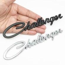 Estilo do carro metal challenger logotipo adesivo emblema emblema decalques para dodge carregador challenger ram 1500 carregador acessórios avenger