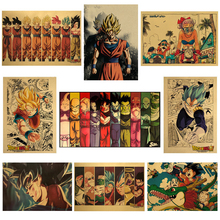 Poster Kids Painting Wall-Stickers Kraft-Paper-Collection Decoracion Classic Anime Vintage