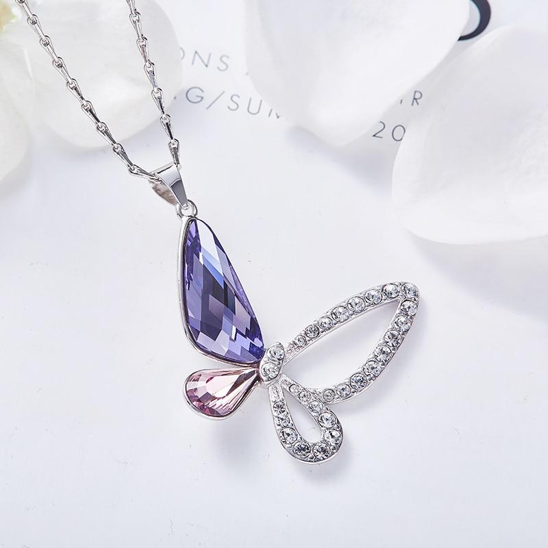 Butterfly Pendant Gemstone Bug Charm Fashion Sterling Silver