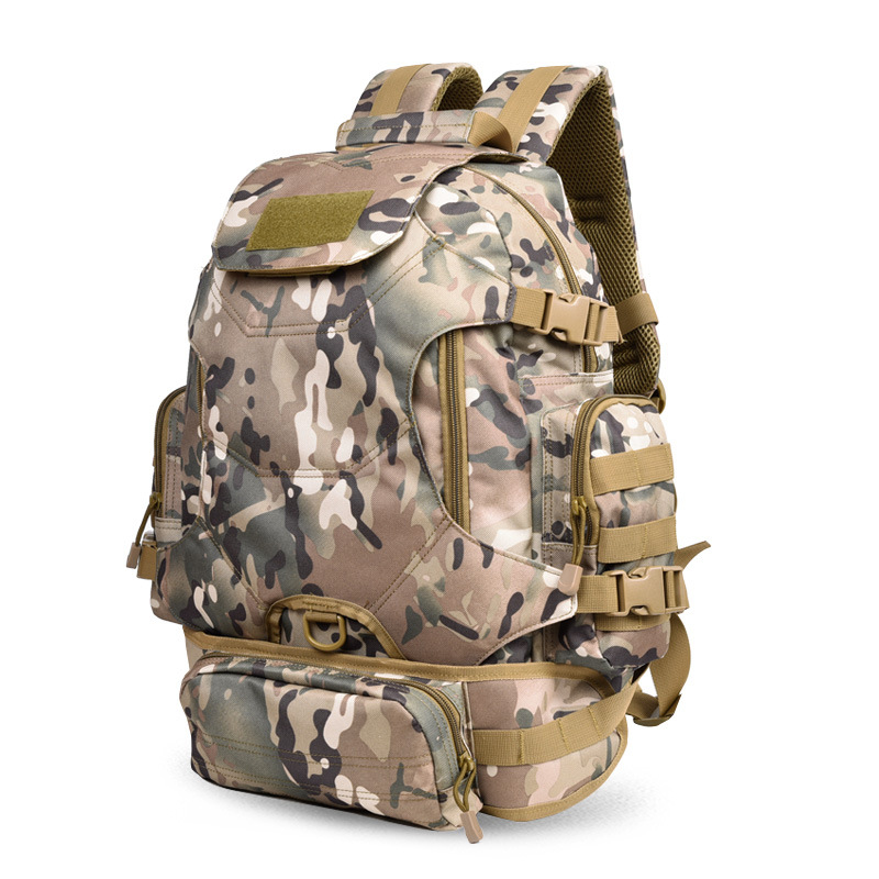 New Style Fashion Outdoor Mountaineering Bag Travel Mountain Climbing Riding Backpack 600D Nylon Waterproof Wearable Back