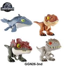 Jurassic World GGN26 Finger Snap Squad Dinosaur Tyrannosaurus Rex Velociraptor Blue Collectible Action Figure Toys for Kids Gift