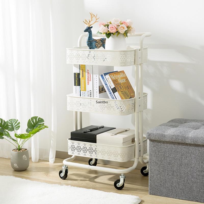 Per la casa in metallo piccolo carrello retro vuoto modello rack di stoccaggio soggiorno mensola della cucina organizzatore camera organizzatore