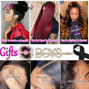 Image 5 - 13x6 13x4 Lace Frontal Human Hair Wigs Pre Plucked Glueless Brazilian Straight 4X4 Lace Closure Wig with Baby Hair Remy KissLove