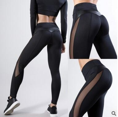 Women Workout Push Up Fitness Leggins Sexy Leather Leggings Sports Hight Waist Leggings For Women  2019