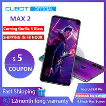 "Cubot Max 2 Android 9,0 Octa-Core 6.8 ""5000 mAh smartphone ohne vertrag Corning Gorilla Glas Typ-C 4GB + 64GB Dual Kamera 12MP 4G LTE Gesicht ID android smartphone Handy"