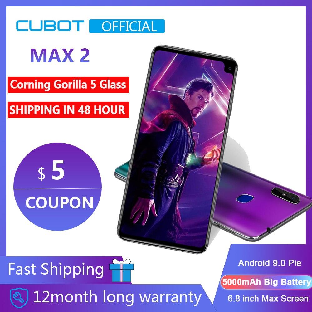 "Cubot Max 2 Android 9.0 Octa-Core 6.8"" 5000mAh Smartphone Corning Gorilla Glass Type-C 4GB+64GB Dual Camera 12MP 4G LTE Face ID(China)"