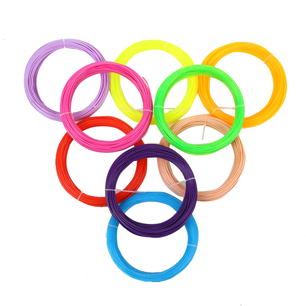 PLA Filament 3d Printer Filament 5 Meter 30 Color For Choose Plastic Rubber 1.75mm Printing Pen 5m 5m Supplie Lengths