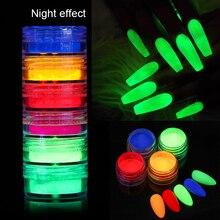 Neon-Pigment-Powder Nail-Art-Decorations Nail-Glitter Fluorescence Manicures Shinny Summer