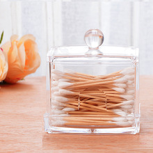 2PCS Plastic Swab Box Jewlery Box Storage Box Crystal Swab Box Transparent Swab Box box
