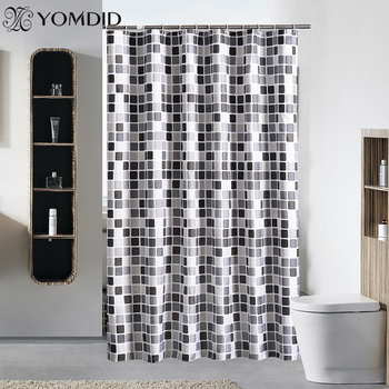 Cortina de ducha impermeable con 12 ganchos, cortinas de baño con estampado...